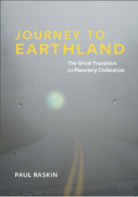 Cover Image of Paul Raskin's latest book titled Journey to Earthland